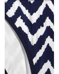 MILLY - Black Biarritz Zigzag-print Bikini Briefs - Lyst