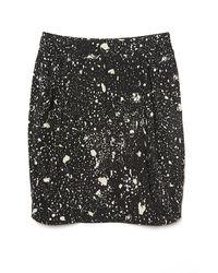 3.1 Phillip Lim | Blue Paint Splatter Drape Skirt | Lyst