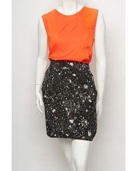 3.1 Phillip Lim - Blue Paint Splatter Drape Skirt - Lyst