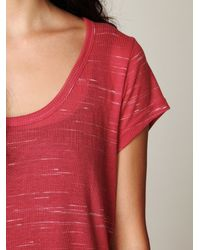 Free People | Red Lazy Day Tee | Lyst
