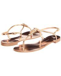 Giuseppe Zanotti | Metallic 'Scorpio' flat sandals | Lyst