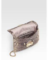 MICHAEL Michael Kors - Multicolor Sloan Python-embossed Leather Convertible Clutch - Lyst