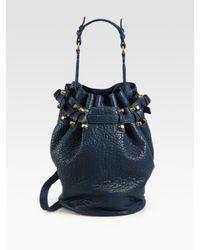 Alexander Women S Blue Go Drawstring Bag