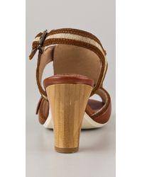 Frye - Brown Ramsey Kilte Sandals - Lyst