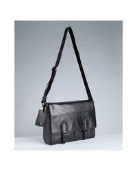 Givenchy | Black Cowhide Leather Logo Messenger Bag for Men | Lyst