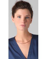 Jennifer Zeuner - Metallic Thin Choker Necklace - Lyst