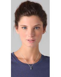 Jennifer Zeuner Metallic Xo Charm Necklace