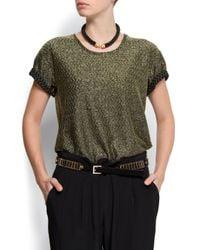 Mango - Green T-shirt Lux - Lyst