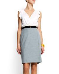 Mango White Combi Dress