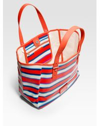 Marc By Marc Jacobs - Multicolor Stripey Jacobsen Painted Canvas Tote Bag - Lyst