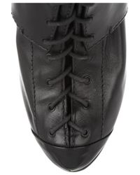 McQ Black Lace-up Leather Ankle Boots