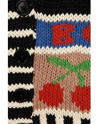 Sonia by Sonia Rykiel - Multicolor Cherry Bomb Chunky-knit Cotton Cardigan - Lyst
