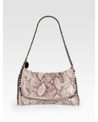 Stella McCartney | Pink Falabella Snake-Print Shoulder Bag | Lyst