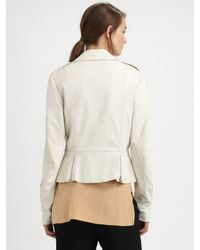 3.1 Phillip Lim | White Leather Motocross Jacket | Lyst