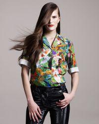 Altuzarra | Green Palm-print Blouse | Lyst