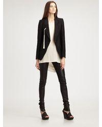 Ann Demeulemeester | Black Tassel Jacket | Lyst