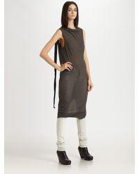 DRKSHDW by Rick Owens | Black Cotton Dress | Lyst