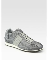 Fendi | Gray Softy Sneakers for Men | Lyst