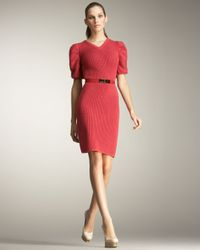 Fendi | Pink Puff-sleeve Sweater Dress | Lyst