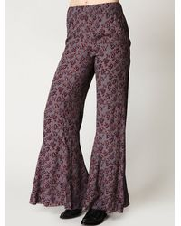 Free People | Purple Floral Print Pullover Pant | Lyst