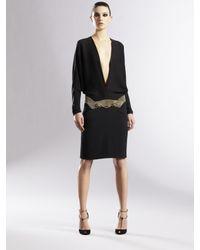 Gucci | Black Silk Kimono Dress | Lyst