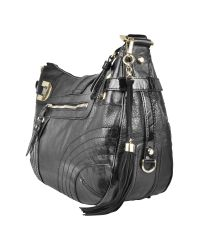 Guess | Black Leona - Eco-leather Hobo Bag | Lyst