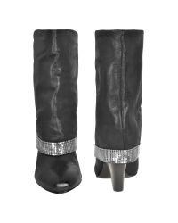 Guess - Black Fold Over Bootie with Mesh Border - Lyst