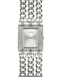 Guess - Metallic Autograph - Crystal Signature Mirror Dial Watch - Lyst