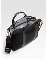 Jack Spade | Black Davis Waxed Cotton Briefcase for Men | Lyst