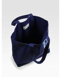 Jack Spade - Blue Canvas Logo Tote for Men - Lyst