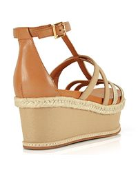 Juicy Couture - Natural Leather Strappy Wedge Sandal - Lyst