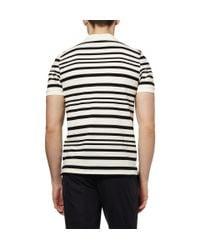 Maison Kitsuné - Black Irregular Stripe Cotton-piqué Polo Shirt for Men - Lyst