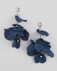 Lanvin   Blue Petal Earrings   Lyst