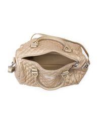 Mango | Metallic Quilted Bowling Handbag | Lyst