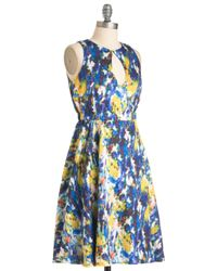 ModCloth | Blue Easily Abstracted Dress | Lyst