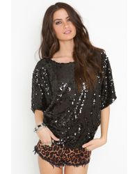 Nasty Gal - Take Up Space Off-the-shoulder Top - Black - Lyst