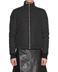 Rick Owens | Black Waxed Cotton Duvet Sport Jacket for Men | Lyst