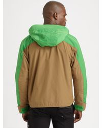 RLX Ralph Lauren   Brown Xm Trek Mesh-lined Microfiber Hoodie for Men   Lyst