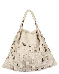 Salar - Natural Juni Woven Leather Shoulder Bag - Lyst