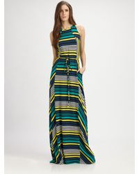 Shoshanna - Multicolor Cassie Striped Maxi Dress - Lyst