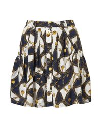 TOPSHOP | Multicolor Chain Print Skirt | Lyst
