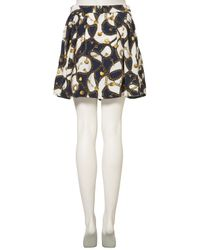 TOPSHOP - Multicolor Chain Print Skirt - Lyst