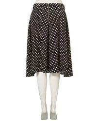 TOPSHOP - Blue Small Spot Circle Skirt - Lyst