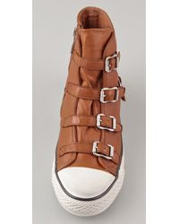 Ash - Natural Thelma Wedge Sneakers - Lyst