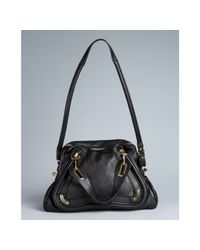 Chloé | Black Quilted Lambskin Paraty Medium Top Handle Bag | Lyst