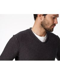 James Perse - White V-neck Sweater for Men - Lyst