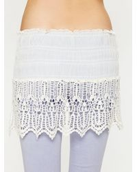 Free People | White Fp One Lacey Layering Slip | Lyst