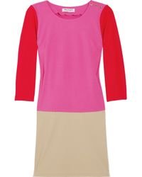 Juicy Couture | Purple Color-blocked Jersey Dress | Lyst