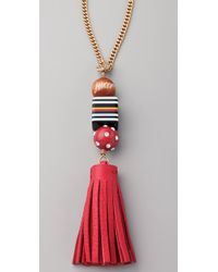 Juicy Couture | Red Tassel Necklace | Lyst