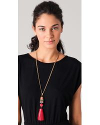 Juicy Couture - Red Tassel Necklace - Lyst